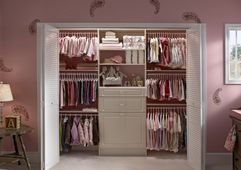 Furniture: Cute Minimalist Pink Closets Storage Wardrobe Design ...