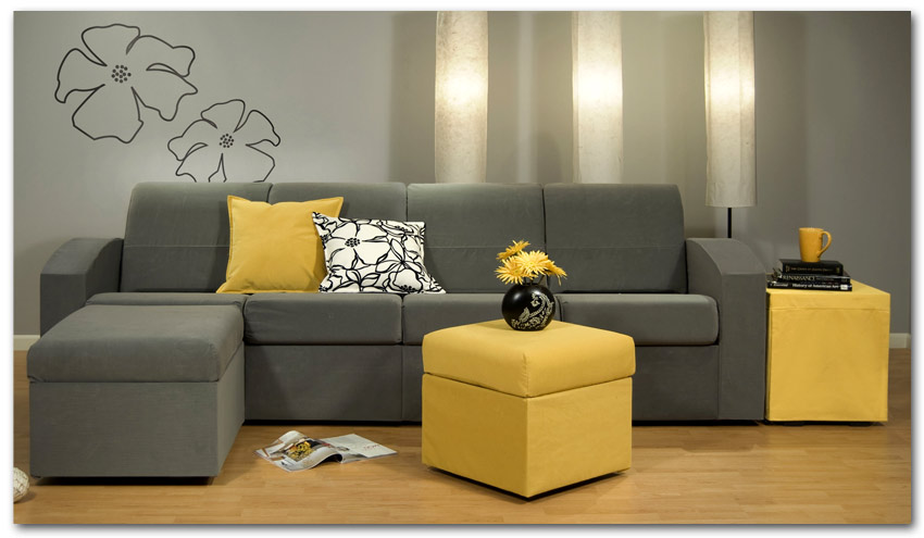 Interior design ideas architecture blog modern design for Modern gray and yellow living room