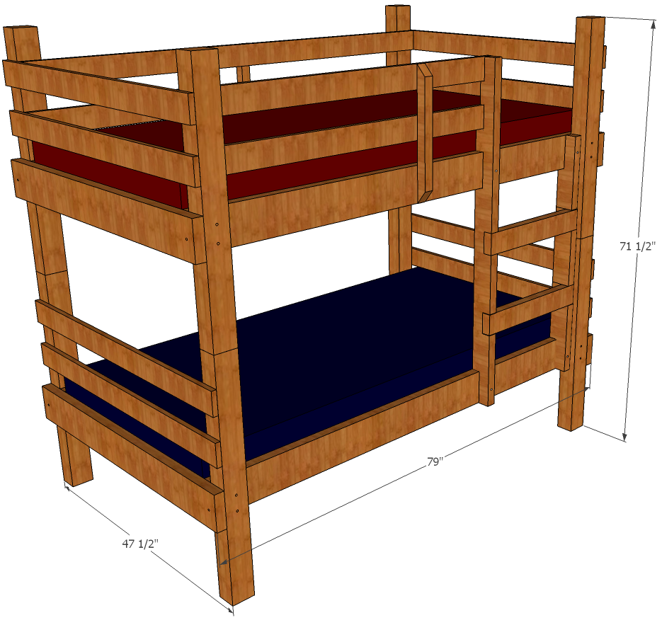 bunk bed designs and plans
