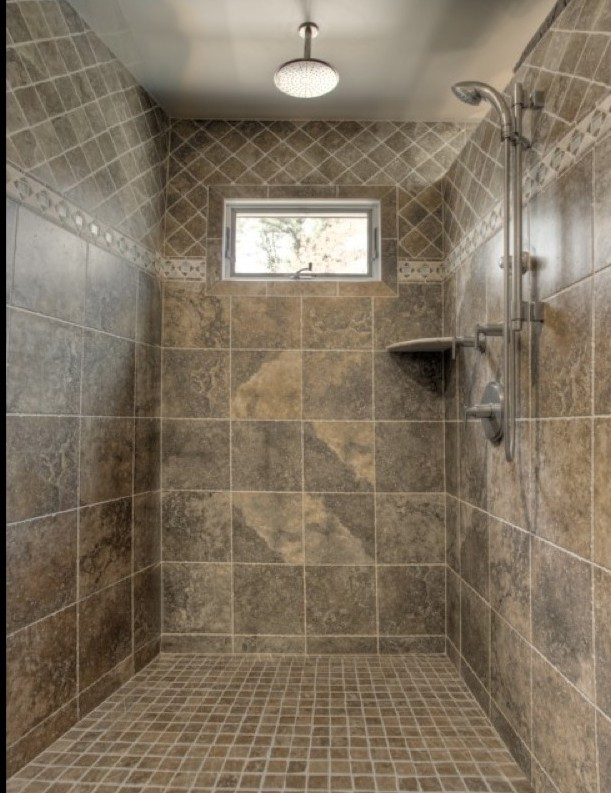 small bathroom tile ideas for shower room in spacious space with best