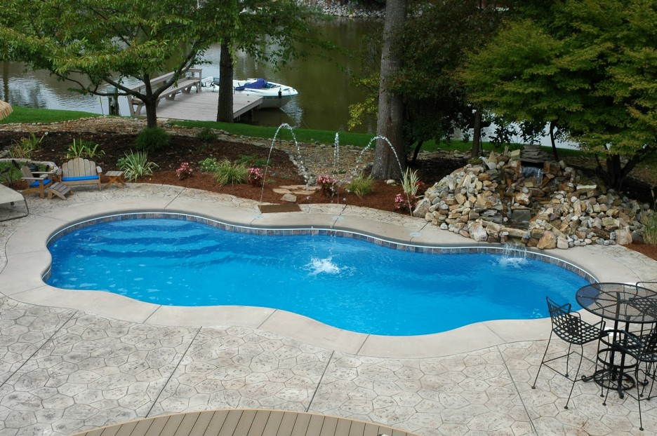 Small Fiberglass Inground Swimming Pools : House small swimming pools home design inside
